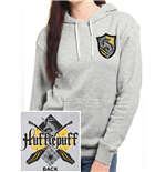 Harry Potter - House Hufflepuff - Women Fitted Pullover Hoodie Grey