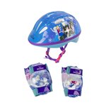 DISNEY Frozen Kid's Activities Small Helmet, Small Knee Pads and Extra Small Elbow Pads Protection Set, Multi-colour