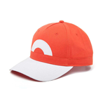 POKEMON Ash Ketchum Snapback Baseball Cap, One Size, Orange/Grey