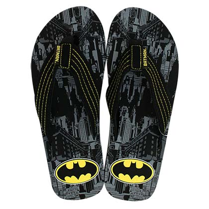 BATMAN Men's City Print Flip Flops