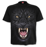 Spiral T-shirt - Tribal Panther Black