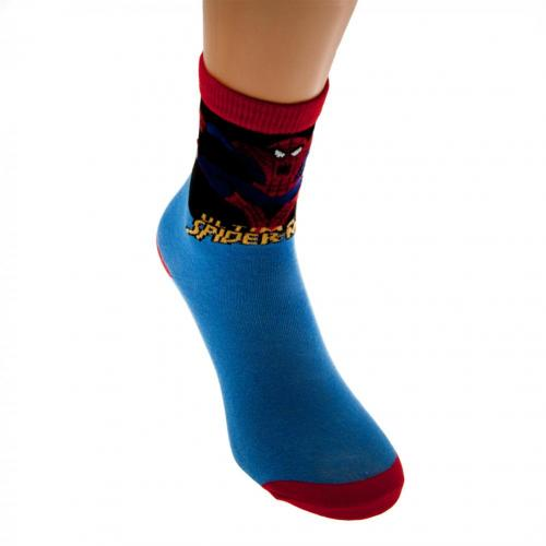 Spider-Man Boys Socks 1 Pack Junior 4-6.5 BL