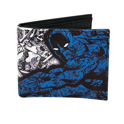 BLACK PANTHER Black and Blue Comic Bifold Wallet