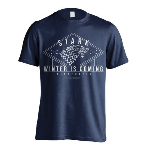 Game of thrones t shirt stark winter for only at for Game t shirts uk