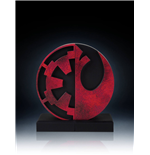 Star Wars Bookends Imperial/Rebel Logo 15 cm