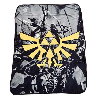 The LEGEND OF ZELDA Plush Triforce Throw Blanket