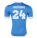 2015-2016 Napoli Authentic Home Shirt (Insigne 24)