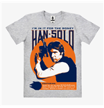 Star Wars Easy Fit Organic T-Shirt Han Solo In It For The Money