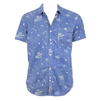 CORONA EXTRA Button Down Shirt