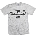 Star Wars Men's Tee: Rogue One AT-AT Silhouette Line Art