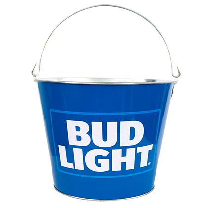 BUD LIGHT Blue Beer Bucket