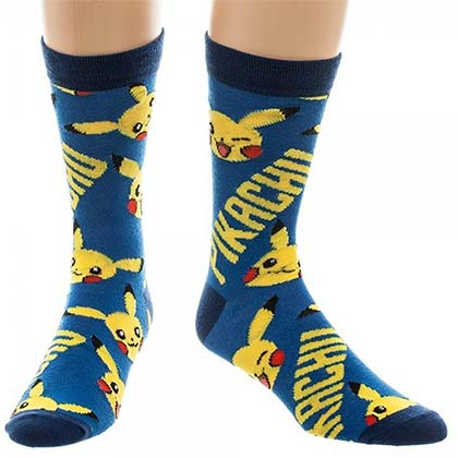 POKEMON Men's Pikachu Crew Socks