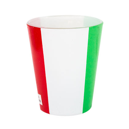 Italian Flag Shot Glass