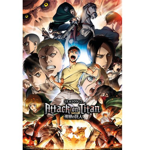 Attack On Titan Season 2 - Collage Key Art Maxi Poster (61x91,5cm)