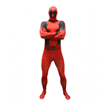 MARVEL COMICS Deadpool Basic Adult Cosplay Costume Morphsuit, Medium, Multi-Colour