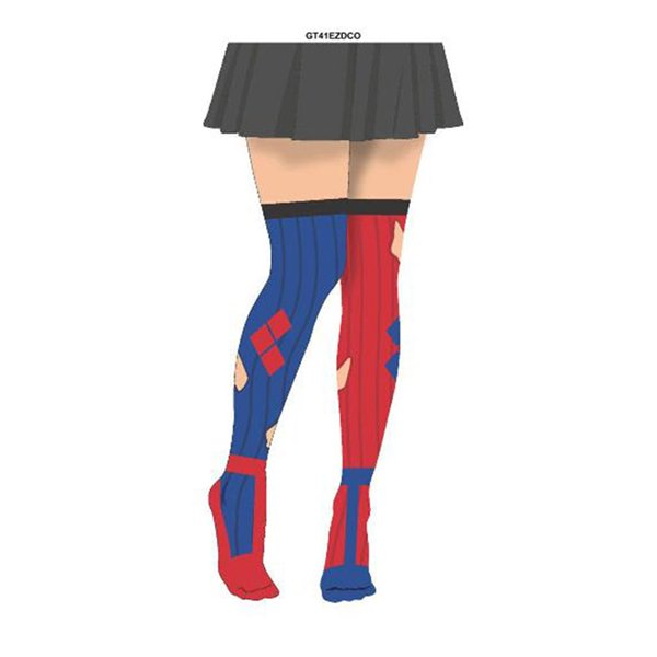 harley quinn diamond sock illusion tights for only. Black Bedroom Furniture Sets. Home Design Ideas