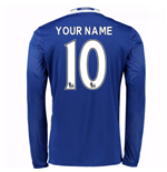 2016-17 Chelsea Home Long Sleeve Shirt (Your Name)