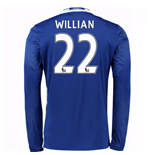 2016-17 Chelsea Home Long Sleeve Shirt (Willian 22)