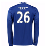 2016-17 Chelsea Home Long Sleeve Shirt (Terry 26)
