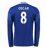 2016-17 Chelsea Home Long Sleeve Shirt (Oscar 8)