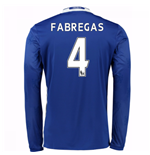2016-17 Chelsea Home Long Sleeve Shirt (Fabregas 4)