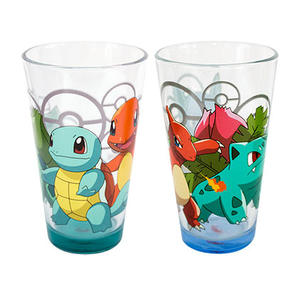 POKEMON Characters Pint Glass Set