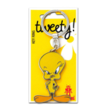 Looney Tunes Metal Keychain Tweety