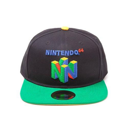 Buy Nintendo Original N64 Logo Snapback Baseball Cap One