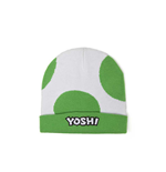 NINTENDO Super Mario Bros. Yoshi Egg Cuffed Beanie, One Size, Green/White