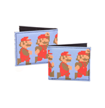 NINTENDO Super Mario Bros. Pixelated Running and Jumping Mario Bi-fold Wallet, Multi-colour