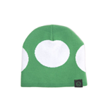 NINTENDO Super Mario Bros. Green Mushroom Cuffless Beanie, One Size, Green/White