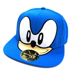 SEGA Sonic the Hedgehog Big Face Snapback Baseball Cap, One Size, Blue