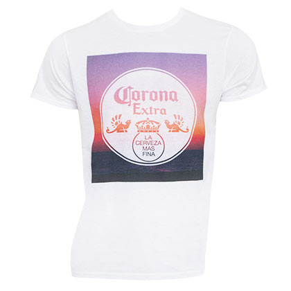 CORONA EXTRA Sunset White Tee Shirt