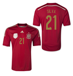 2014-15 Spain World Cup Home Shirt (Silva 21) - Kids