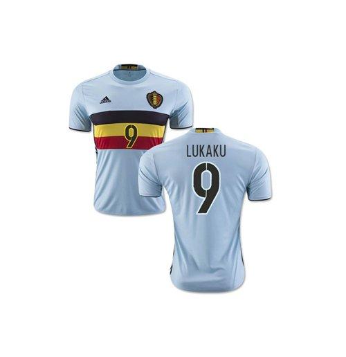 new styles 311f7 7ece6 2016-2017 Belgium Away Shirt (Lukaku 9)