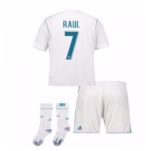 2017-17 Real Madrid Home Full Kit (Raul 7)