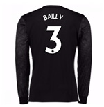 2017-18 Man Utd Away Long Sleeve Shirt (Kids) (Bailly 3)