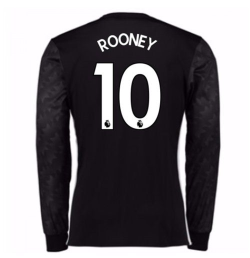 2017-18 Man Utd Away Long Sleeve Shirt (Kids) (Rooney 10)