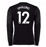2017-18 Man Utd Away Long Sleeve Shirt (Kids) (Smalling 12)
