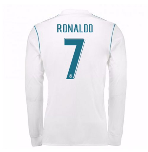 2017-18 Real Madrid Long Sleeve Home Shirt (Ronaldo 7)