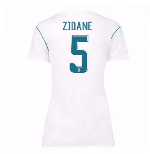 reputable site 71d6c 31b6e 2017-18 Real Madrid Womens Home Shirt (Zidane 5)