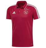 2017-2018 Ajax Adidas Polo Shirt (Red)