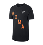 2017-2018 AS Roma Nike Squad Tee (Black)