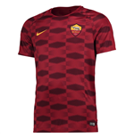 2017-2018 AS Roma Nike Pre-Match Training Shirt (Red) - Kids