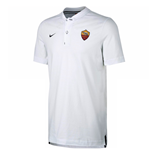 2017-2018 AS Roma Nike Authentic Grand Slam Polo Shirt (White)