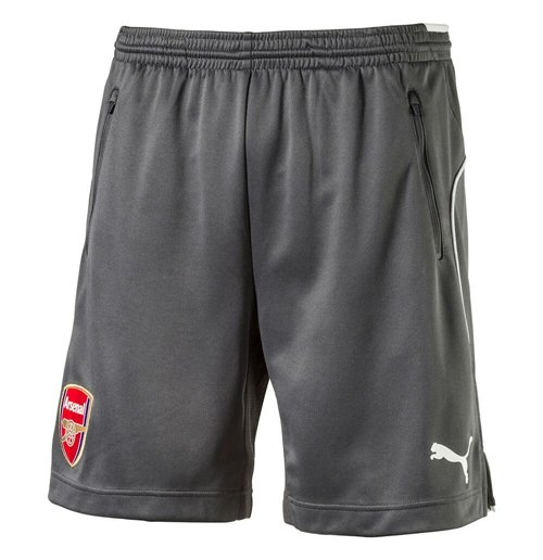 2017-2018 Arsenal Puma Training Shorts (Dark Shadow)