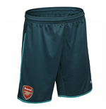 2017-2018 Arsenal Home Goalkeeper Shorts (Deep Teal) - Kids
