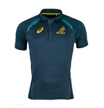 2017-2018 Australia Wallabies Media Polo Shirt (Legion Blue)