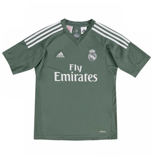 2017-2018 Real Madrid Adidas Home Goalkeeper Shirt (Kids)
