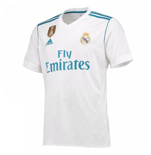 2017-2018 Real Madrid Adidas Home Football Shirt